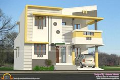 House Design Indian Style Plan And Elevation Unique Kerala home design and floor plans - Best Home Interior Design 2 Storey House Design, Bungalow House Design, House Front Design, Modern Small House Design, Modern House Plans, Home Design Floor Plans, House Floor Plans, Floor Design, Ceiling Design