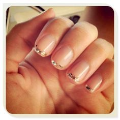 Simple nails with a little sparkle