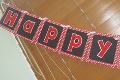 Minnie Mouse Black and Red Polka Dot Banner by JJsPersonalTouch, $20.00