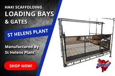 Make Your Project More Profitable, Loading Towers and Gates Available! - System scaffolding compatible loading towers and gates now available from St Helens Plant. Cuplock loading towers, Kwikstage Loading Bays available.