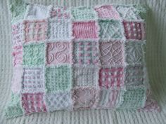 INSTRUCTIONS PATTERN How To For Standard Sized Rag Quilt Pillow Sham