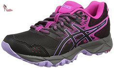 Asics Gel-Sonoma 3, Chaussures de Course de Trail Femme, Multicolore (Pink Glow/Black/Lavender), 37 EU