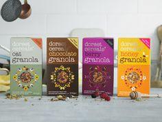 New Dorset Cereals packaging.