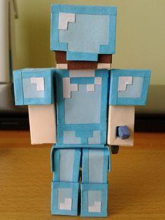 Minecraft Steve With Diamond Armor | deviantART: More Like minecraft Steve kills skeleton by ~nyahbo1