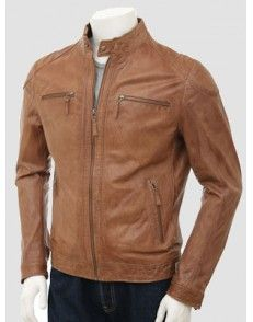 Tan Biker Leather Jacket