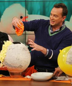 Clinton Kelly's Easter Pinata - you can totally make a set of Angry Birds for a themed birthday party as well!