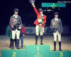Beezie Madden is the winner of the FEIWorldCup Steve Guerdat is 2nd, Kevin Staut 3th ♥