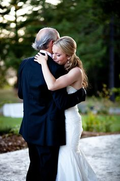 style me pretty - real wedding - usa - california - santa barbara wedding - bride & father