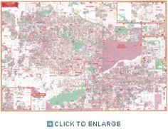 Universal Phoenix, AZ Laminated Wall Map. For ma house.