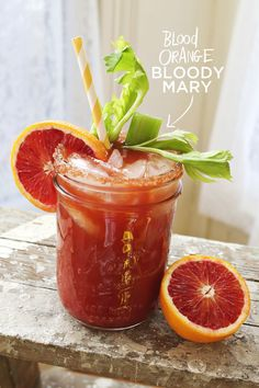 Blood Orange Bloody Mary - You can modify our Powell & Mahoney Bloody Mary mix into this delicious looking drink. But it's all about the garnishing - isn't it? : )
