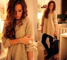 oversized cozy sweater