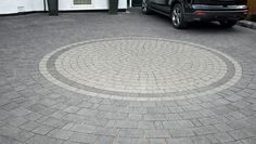 A Drivesett Argent Circle looks stunning at the heart of a modern granite look driveway. It achieves a premium granite look at a more affordable price, and with a lower carbon footprint. The versatile Drivesett Argent Circle can be used to break up uniformity of large areas and create a focal point in Argent Driveways.