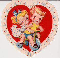 Vintage RARE 1930s UNUSED Juvenile Valentines by poshtottydesignz