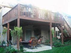 patio under the deck