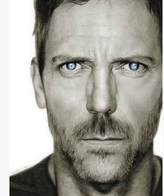 Hugh Laurie - This is a pencil drawing!