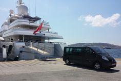 Private Driver Service by Mini Van - Titania Yacht @ Mykonos port