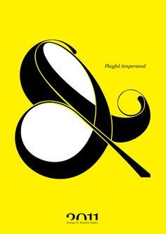 #Playful #Ampersand. #Moshik Nadav #Typography.