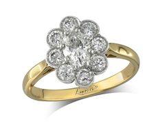 centre Colour F, Clarity VS - 1380030008 Diamond Cluster Ring, Diamond Rings, Diamond Engagement Rings, Diamond Jewelry, Jewellery Uk, Clarity, Centre, Colour, Style