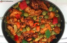 MOROCCAN BAKED CHICKEN CASSEROLE Yum Yum Chicken, Baked Chicken, South African Recipes, Ethnic Recipes, Tasty, Yummy Food, Fresh Coriander, Stuffed Whole Chicken, Canned Chickpeas