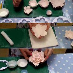 4tlg. Pfingstrose Blume Blütenblatt Kuchen Cookie Cutter Sugarcraft Deko Fondant