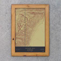Jackson Hole Ski Trail Map Poster | Jackson hole and Trail maps