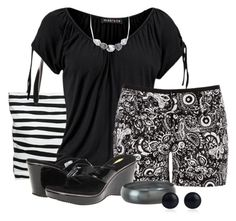 """""""Black and white paisley"""" by mommygerloff ❤ liked on Polyvore featuring Zalando, Volatile, Breil Milano, River Island and Blue Nile"""