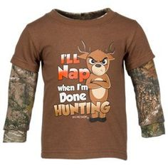 Bass Pro Shops I ll Nap When I m Done Hunting Shirt for Babies cf5b49ab7a06