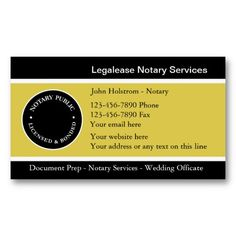 Notary Business Cards | Business cards