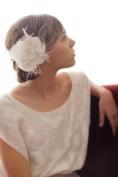 Love the birdcage idea for a wedding veil - if I do a veil it will be something like this!