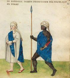 Barbary Coast - a rich person and negro guard