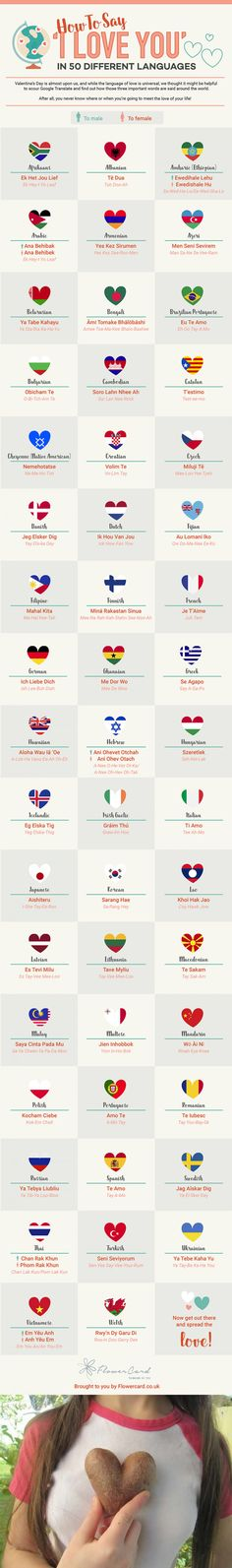 How To Say 'I Love You' In 50 Different Languages