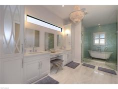 6841 Il Regalo Cir, Naples, Fl 34109 | The newest trend in bathrooms is the free standing tub INSIDE the shower.  Gorgeous example in Il Regalo - North Naples, FL