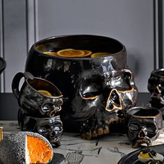 Halloween Skull Punch Bowl #williamssonoma - This needs to be a thing in my life! Time to start checking ebay!