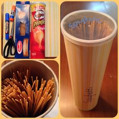 Pringles tube upcycle - cover and use for pasta storage Repurposed Items, Upcycled Crafts, Decor Crafts, Home Crafts, Diy Crafts, Stationary Box, Pringles Can, Good Tutorials, Date Dinner