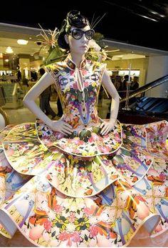 ℘ Paper Dress Prettiness ℘ art dress made of paper by Zoe Bradley