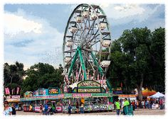 Note Card Ferris Wheel at Arkansas Valley Fair by WritingPlaces, $3.00