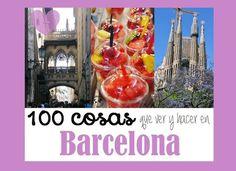 100 COSAS QUE VER Y HACER EN BARCELONA Barcelona, Viera, Christmas Bulbs, Holiday Decor, Travel, Koh Tao, Ideas, Popular, The World