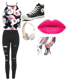 """""""Untitled #7"""" by fatimavasquez ❤ liked on Polyvore featuring Topshop, Converse, Beats by Dr. Dre, women's clothing, women's fashion, women, female, woman, misses and juniors"""