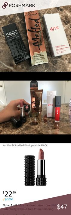 PRICE DROP🎉Lipstick Bundle READ!!! Get this $10 EACH!  Brand NEW and NEVER touched! YOULL BE BUYING THESE FOR MORE THAN-HALF OFF!! 👌  I'll try to give you my best offer that I can!! Sephora Makeup Lipstick