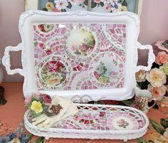 mosaic trays ~ beautiful