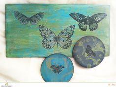 podkładki malowane farbami kredowymi