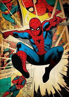 "Beautiful ""Spider-Man"" metal poster created by Marvel . Comics Spiderman, Spiderman Poster, Poster Marvel, Marvel Comics, Hero Marvel, Marvel Art, Marvel Avengers, Man Wallpaper, Marvel Wallpaper"