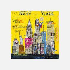 I love NY Canvas by Kathrin Thiede - return to Canvasa