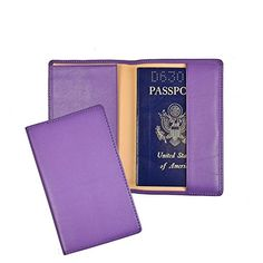 Royce Leather Purple Passport Holder and Travel Document Organizer in Genuine * Click image to review more details.