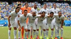 Uruguay players pose for a team photo