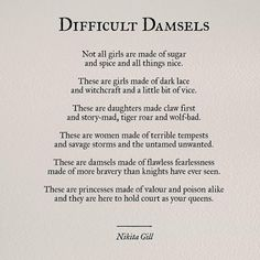 30 Powerful Quotes From Poet & Author Nikita Gill, Including An Exclusive Interview On Her Newest Book, 'Fierce Fairytales' - - A new take on the modern fairy tale. Witch Quotes, Poem Quotes, Words Quotes, Lyric Quotes, Movie Quotes, The Words, Life Quotes Love, Quotes To Live By, Attitude Quotes