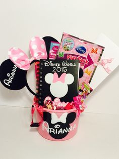 Super cute customized Disney Gift Basket to surprise your kid with ...