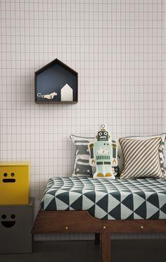 Casa balda papeles pintados niños ferm living Coleccion More de Ferm Living