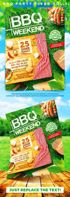 Barbecue Bbq Party Flyer Template… … | Flyer Designs | Pinterest