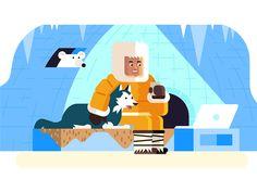 Eskimo Illustration by MezzoLab